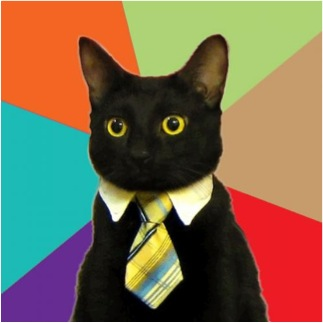 business cat meme blank funny necktie