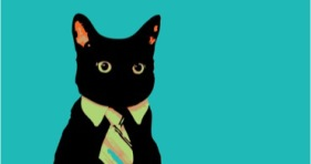 popular meme business cat memes necktie silhouette
