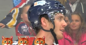 hockey player does meow game