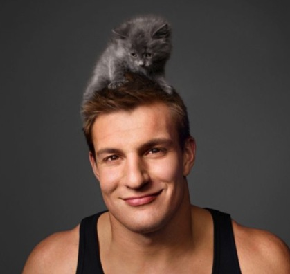 gronk's adorable kitty cat hat