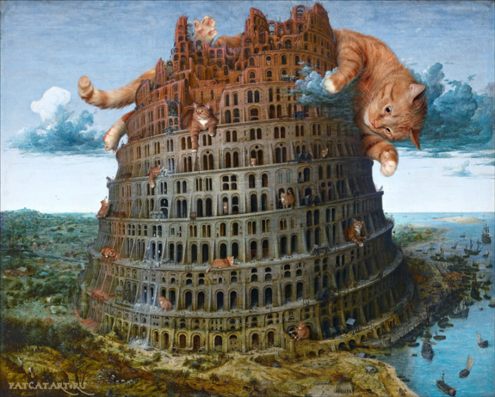 cat painting babel