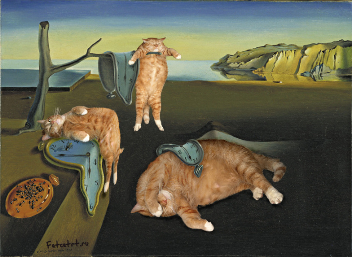 fat cat painting dali