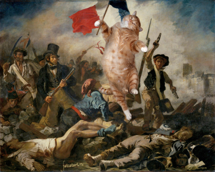 cat painting french