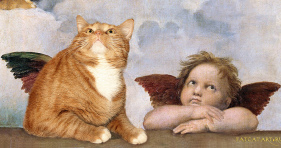 cat painting angel