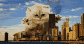 beware of catzilla this caturday
